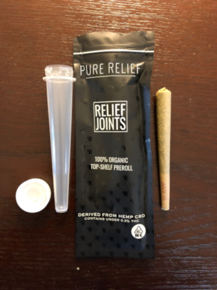 pure-relief-cbd-flower-review-preroll